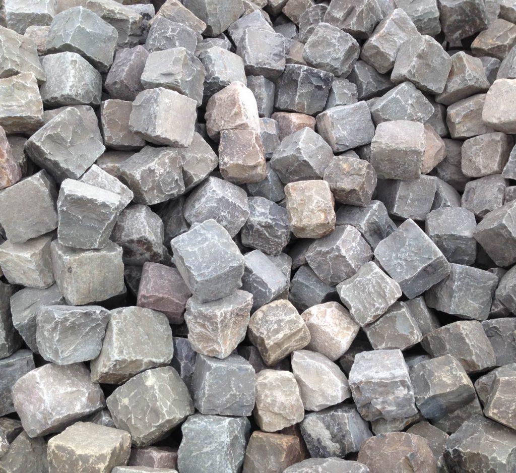 Porphyry cobblestone cubes 6 inch x 6 inch