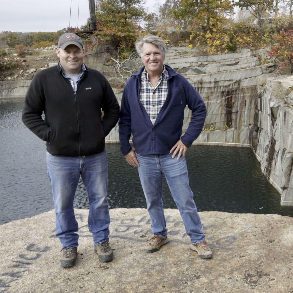 Stone-Curators-Justin-Peterson-and-Gavin-Johnston-in-Rockport-Granite-quarry-_MG_9108