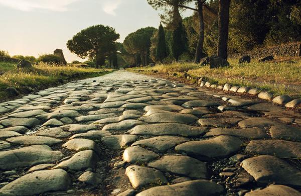 Ancient Roman Cobblestone Road Stone Curators
