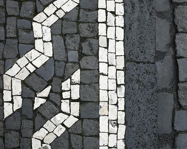 Black Basalt and White Limestone Cobblestone in the Azores Stone Curators
