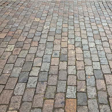 Reclaimed European Porphyry Cobblestone Stone Curators