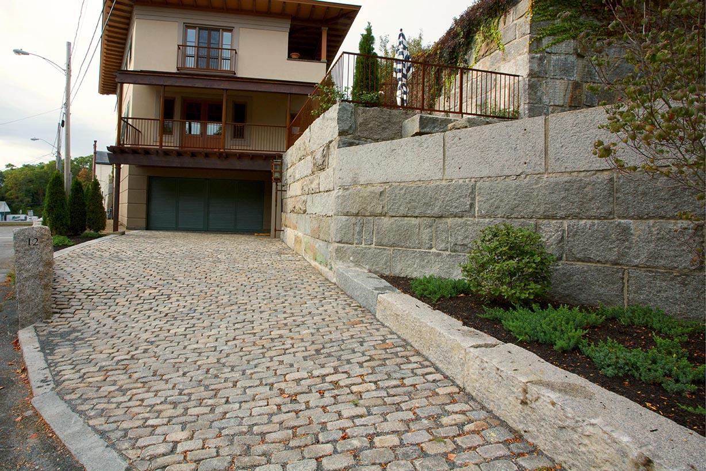 Reclaimed New England Granite Cobblestone Driveway Stone Curators