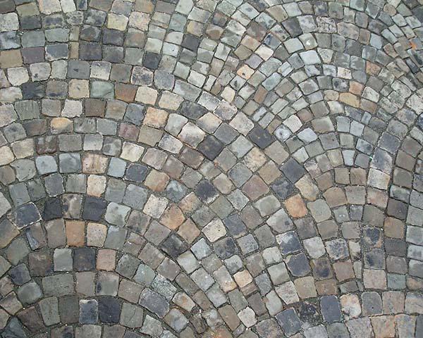 Sandstone Cobblestone Fan Pattern Stone Curators