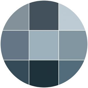 Blues natural stone color theme