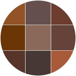 Browns natural stone color theme