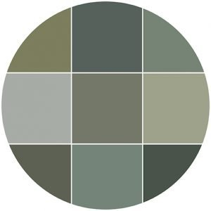 Greens natural stone color theme