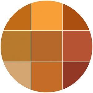 Oranges natural stone color theme