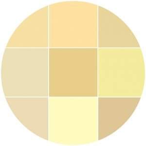 Yellows natural stone color theme