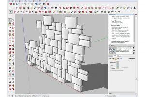 3D design pattern with tiling angled view screenshot