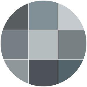Color theme icon blues