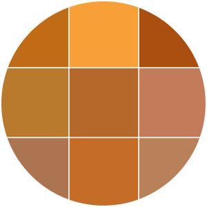 Color theme icon oranges