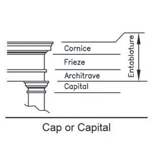 Square Cap or Capital Illustration