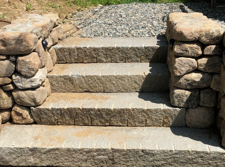 Reclaimed Second Generation Curbstone splitface riser - Stone Curators