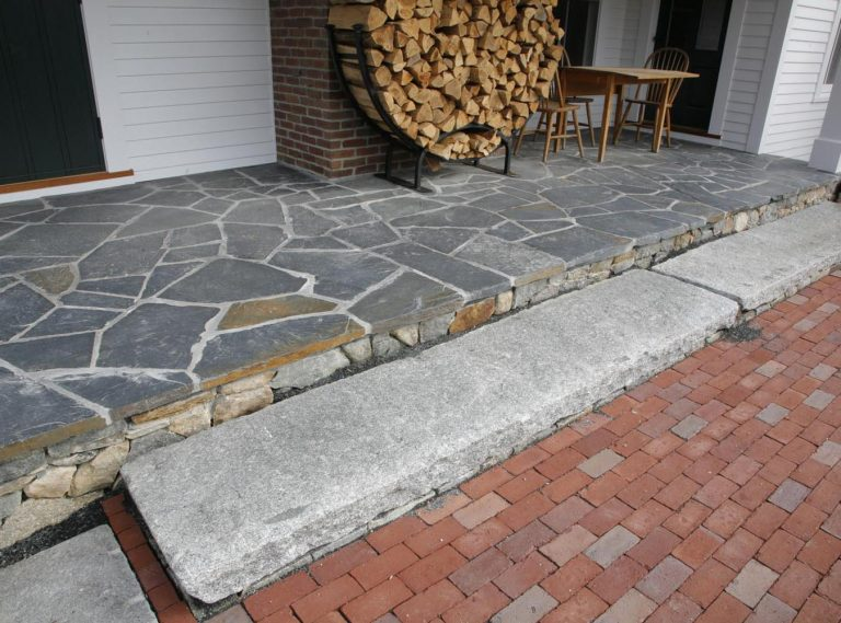 Reclaimed foundation stone step - Stone Curators