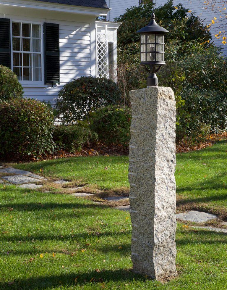Reclaimed granite lamp post - Stone Curators