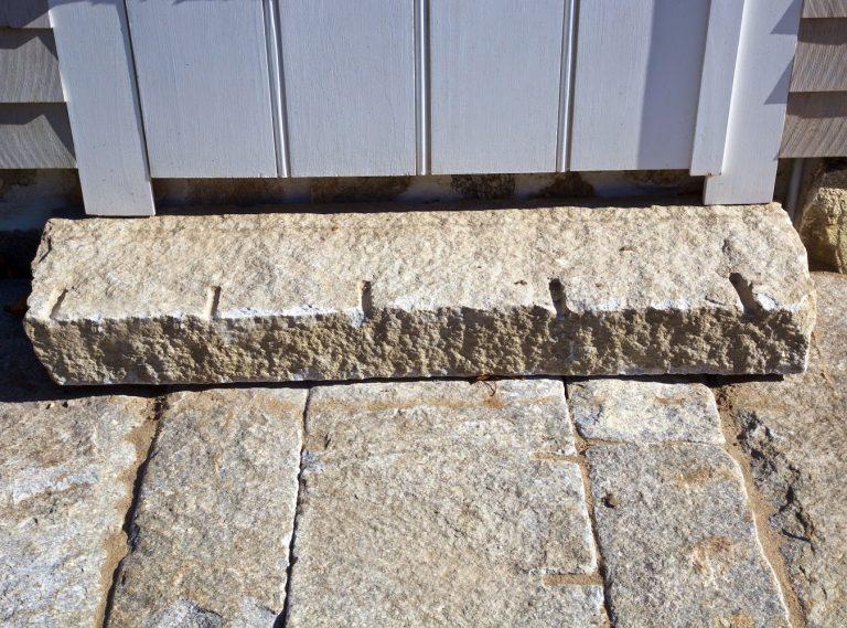 Reclaimed granite monolithic step - Stone Curators