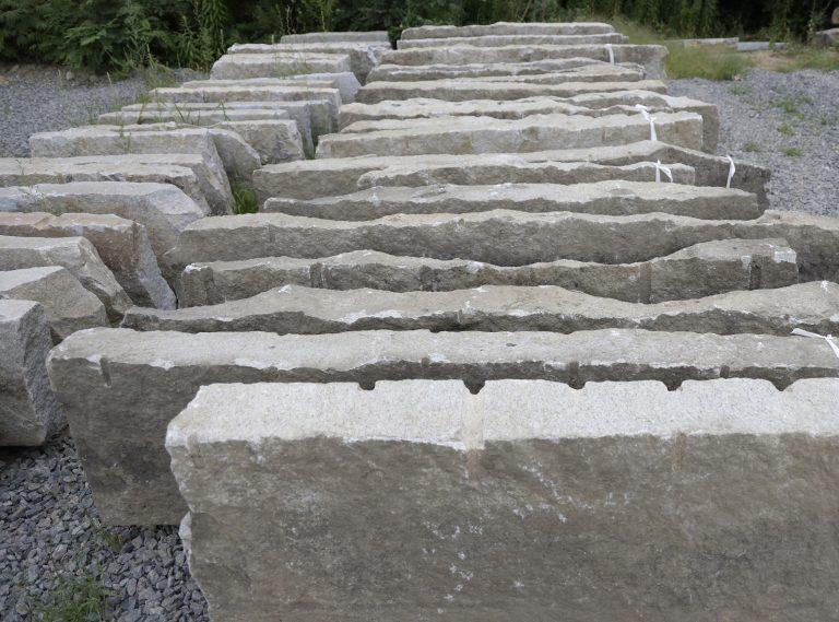Reclaimed granite second generation curbstone - Stone Curators