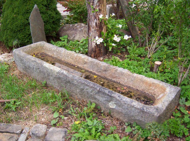 Reclaimed granite trough - Stone Curators