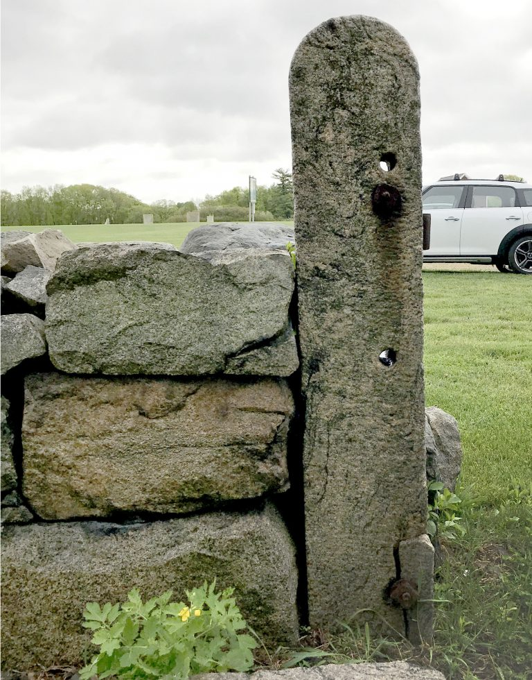 Reclaimed natural stone post - Stone Curators