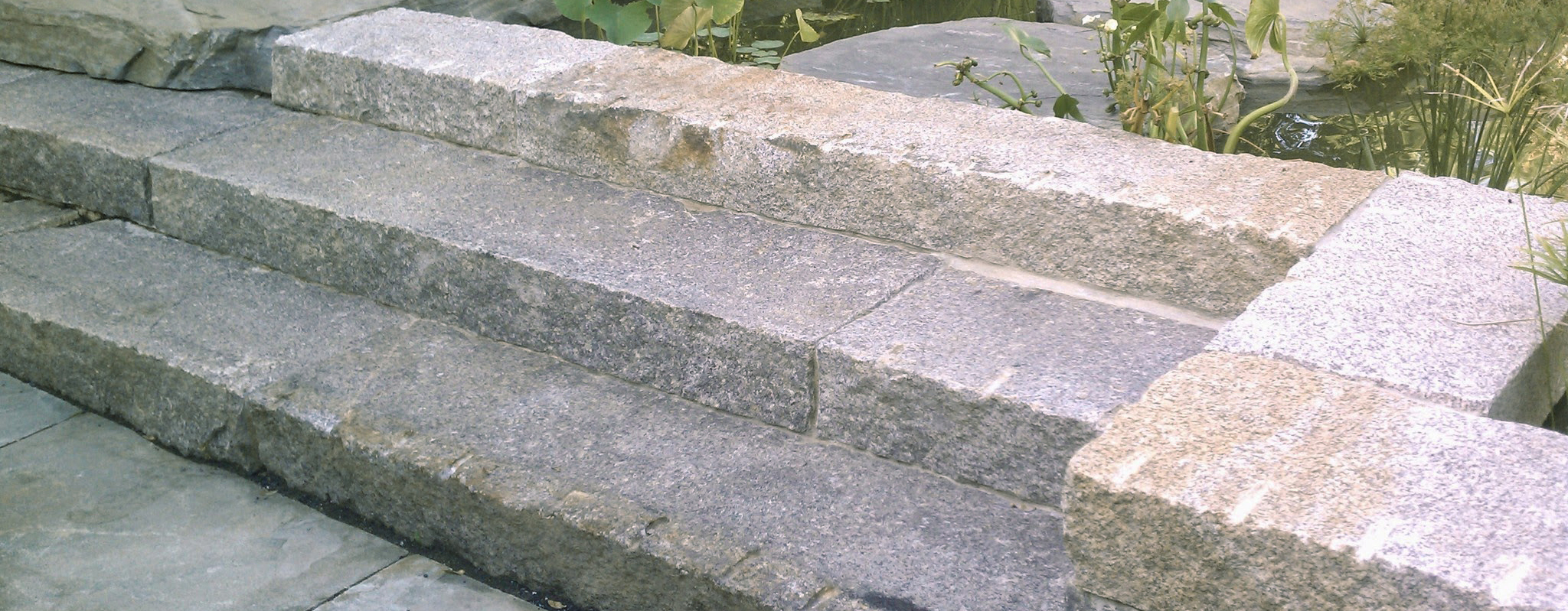 Reclaimed granite steps - Stone Curators