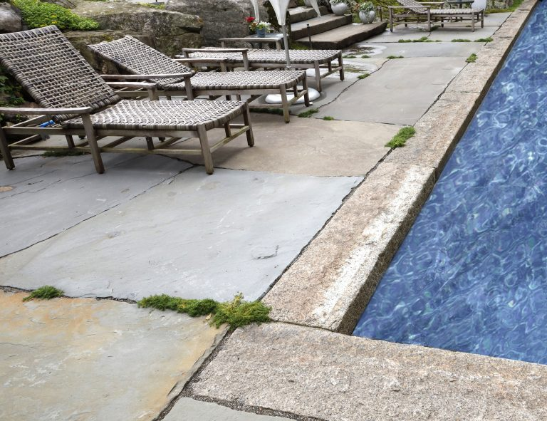 Stone-Curators-Reclaimed-Granite-Pool-Coping-Bluestone-Pool-Deck