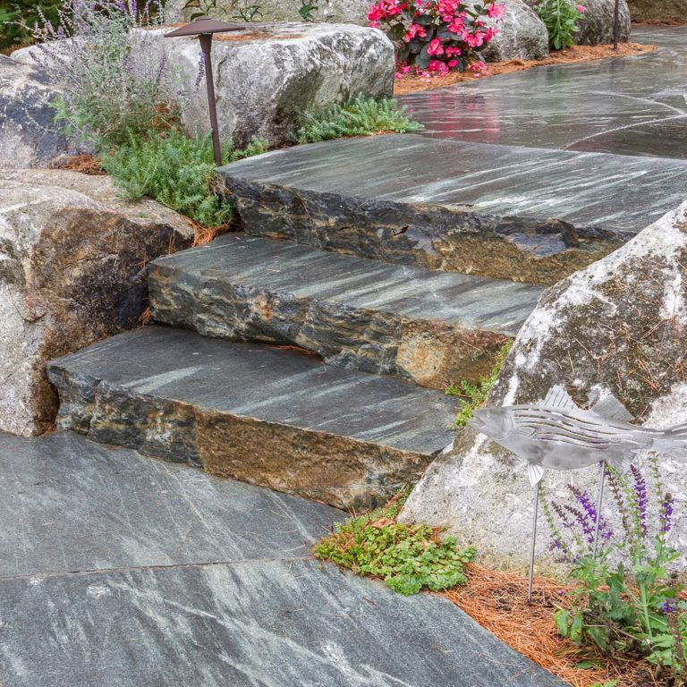 Mystic Mountain flamed pavers and steps square
