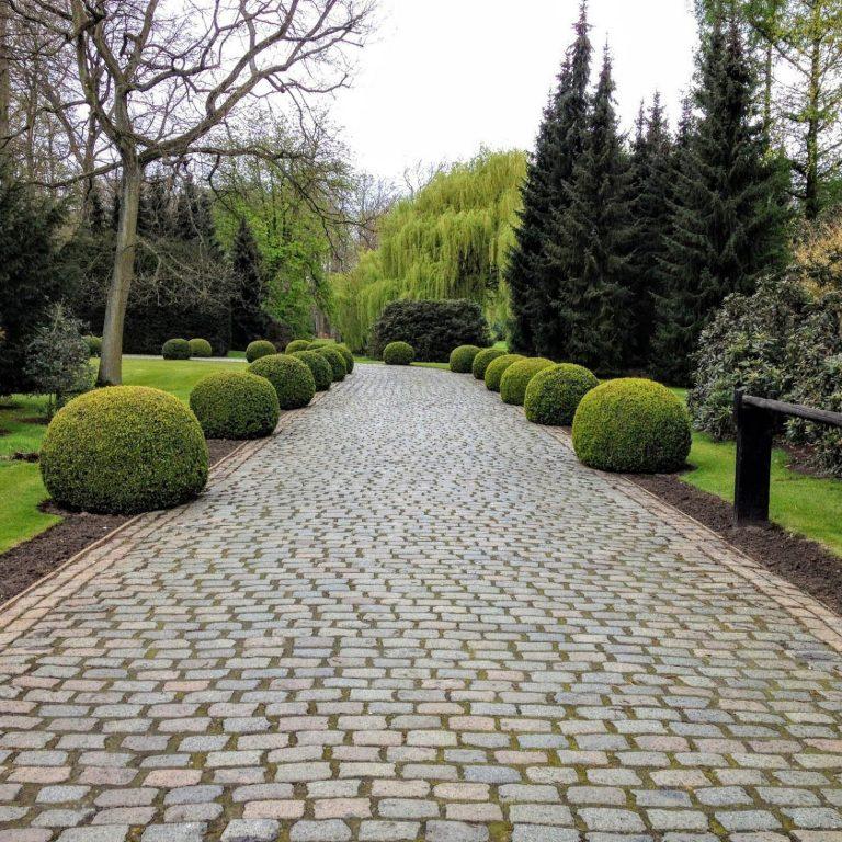Reclaimed European Cobblestone driveway