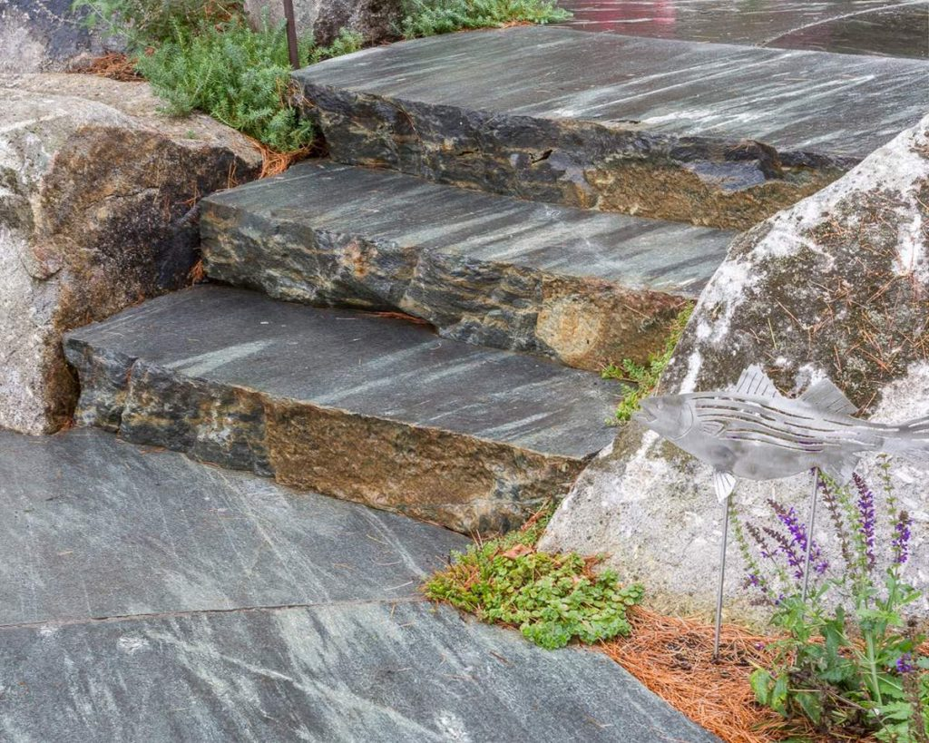 Mystic Mountain granite steps and pavers 3