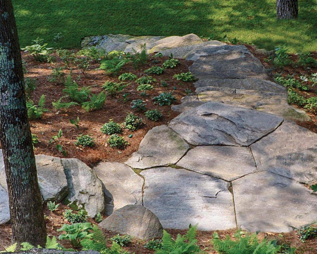 New England Fieldstone patio and steps 6
