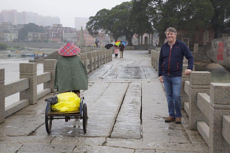 Gavin on ancient Chinese bridge