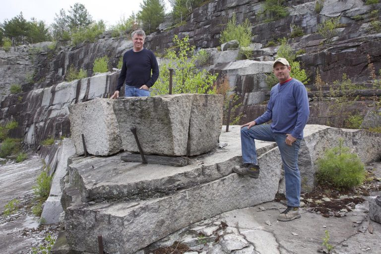 Gavin and Brad in quarry