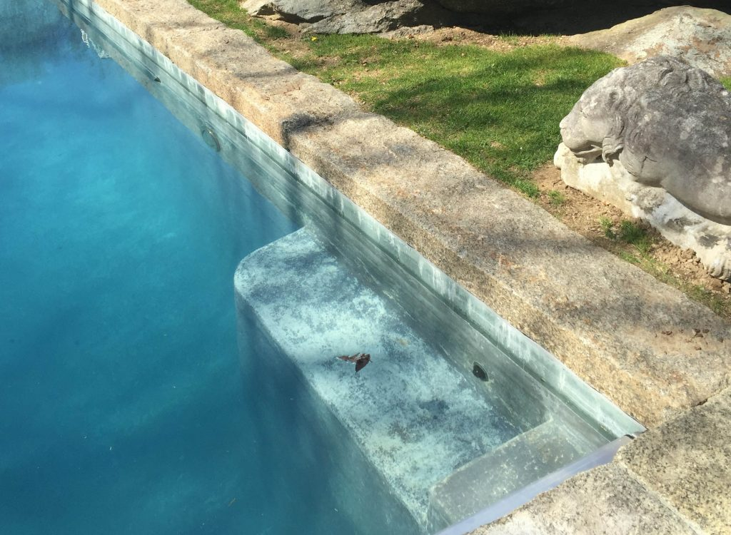 Reclaimed pool coping