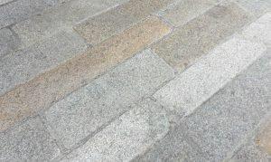 Reclaimed foot worn granite plank pavers