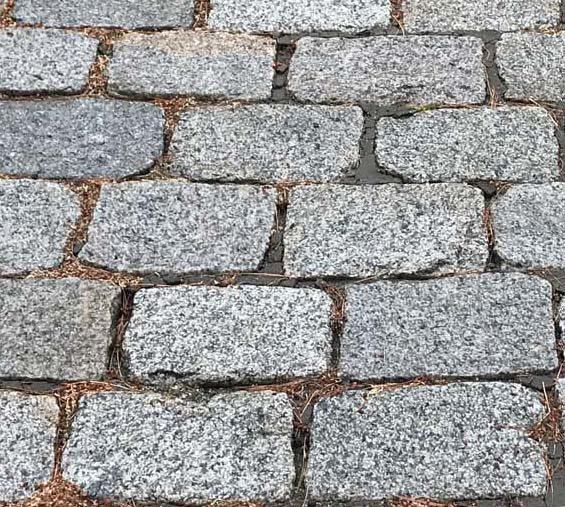 Reclaimed New England cobblestones, medium size, driveway pavers