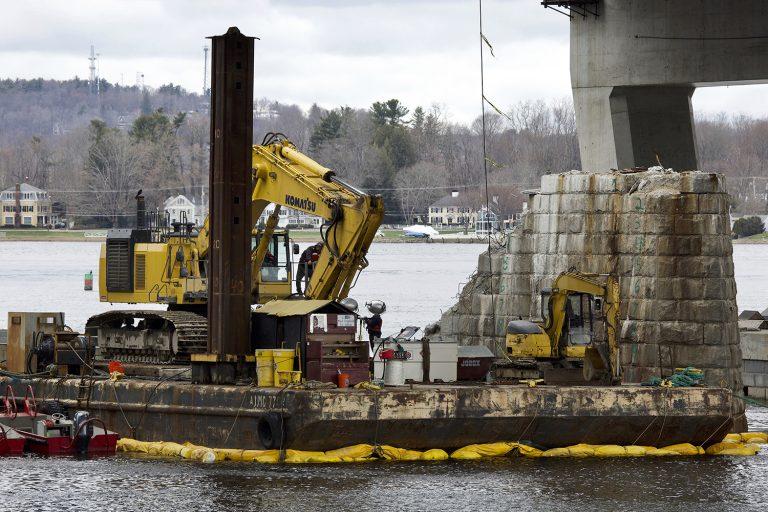 Reclaiming granite bridge block
