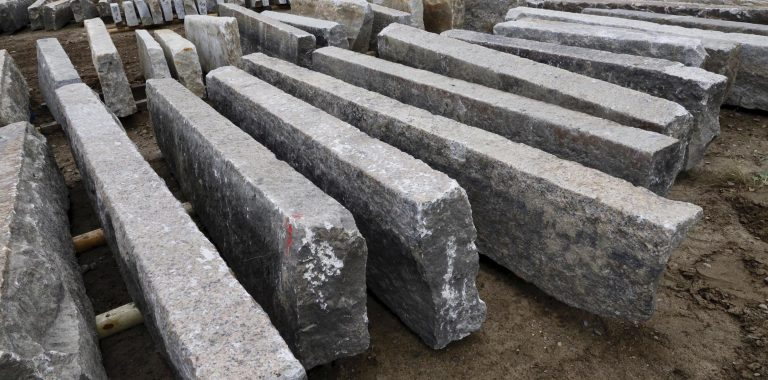 First generation granite curbstone